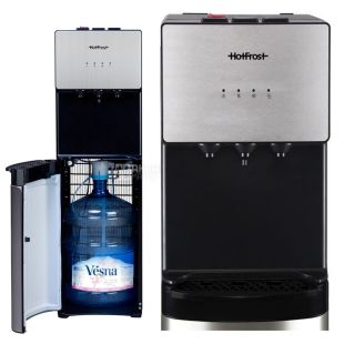 HotFrost 400AS, Floor water cooler, silver-black, 3 taps