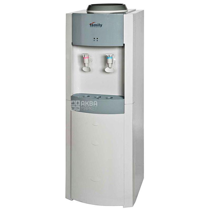 Family WBF-1000LA Silver, Кулер для води з компресорним охолодженням, підлоговий