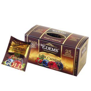 Edems, Fruit Carnival Gold, 25 пак., Чай Эдемс, Фруктовый, черный
