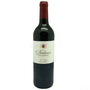 Jean Degaves Bordeaux Reserve dry red wine, 0.75l