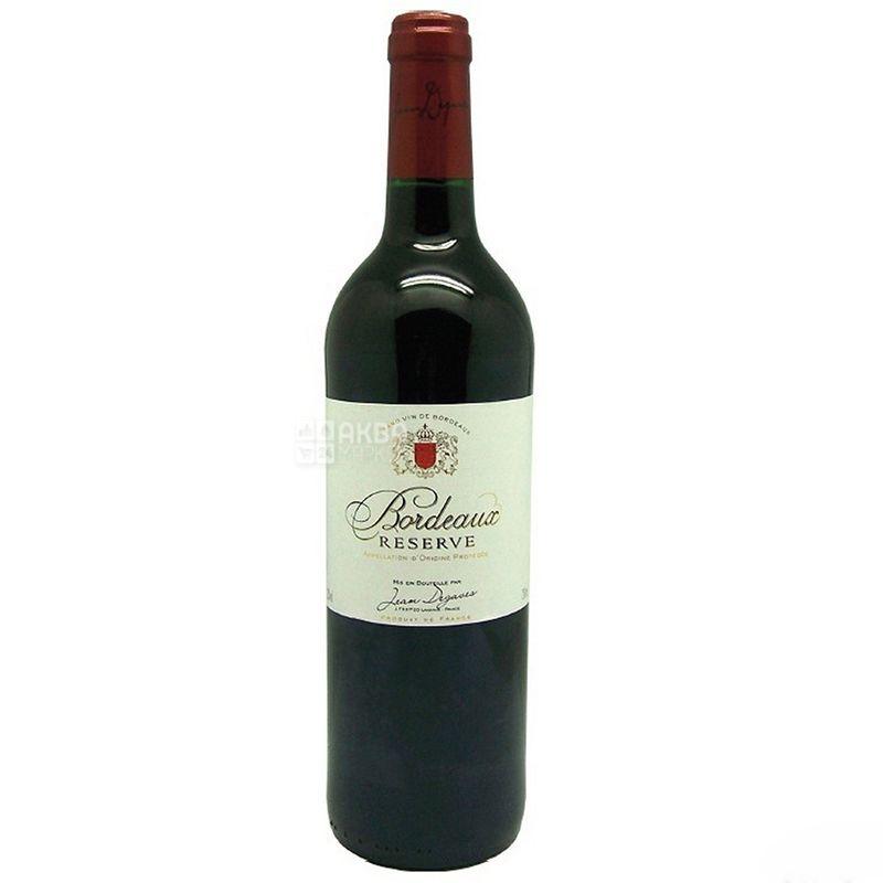 Jean Degaves Bordeaux Reserve, Вино червоне сухе, 0,75 л