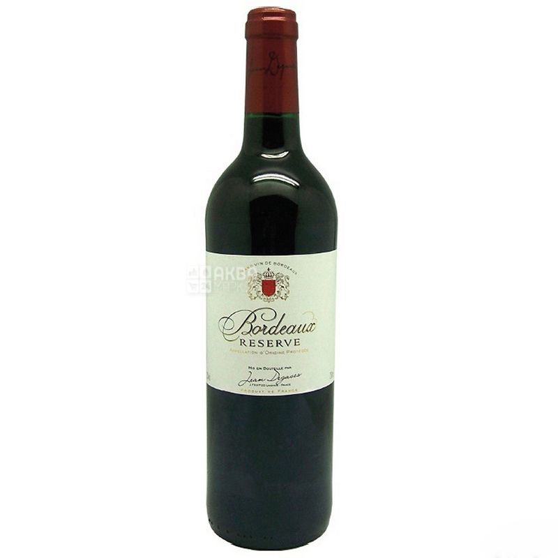 Jean Degaves Bordeaux Reserve, Вино красное сухое, 0,75л
