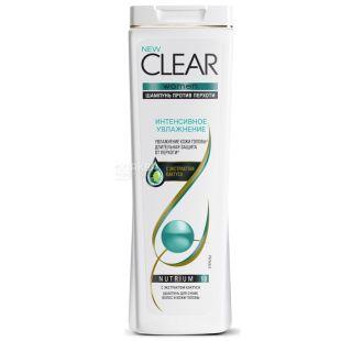 Clear Интенсивное увлажнение Для женщин Шампунь против перхоти, 400мл, пластик