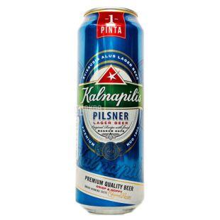 Kalnapilis Pilsner Пиво светлое, 0.5л, жестяная банка
