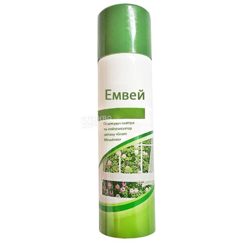 Емвей, 150 мл, Освіжувач повітря і нейтралізатор запаху, Green Meadows