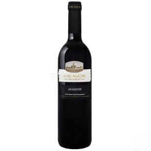 Badagoni Akhasheni Wine, Red semi-sweet, 0.75 l, Glass