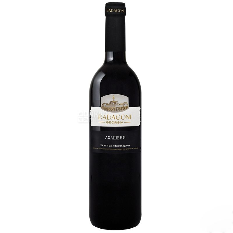 Badagoni, Akhasheni, Вино красное полусладкое, 0,75 л
