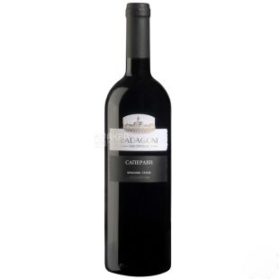 Badagoni Saperavi Wine, Red Dry, 0.75 L, Glass