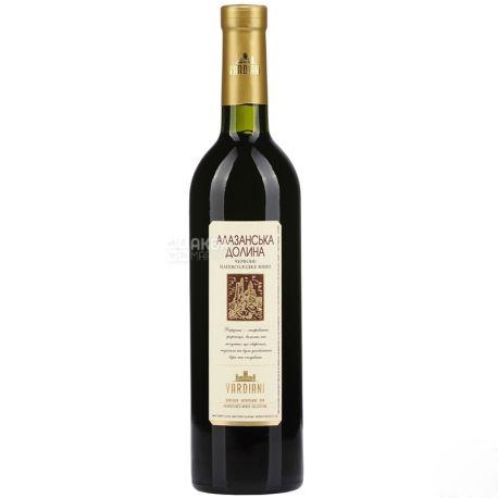 Vardiani Алазанская долина, Вино красное полусладкое, 9-13%, 0,75 л