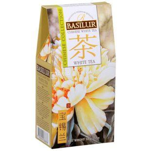 Basilur White Tea, 100 г, Чай Базілур, Білий чай, Китайська колекція
