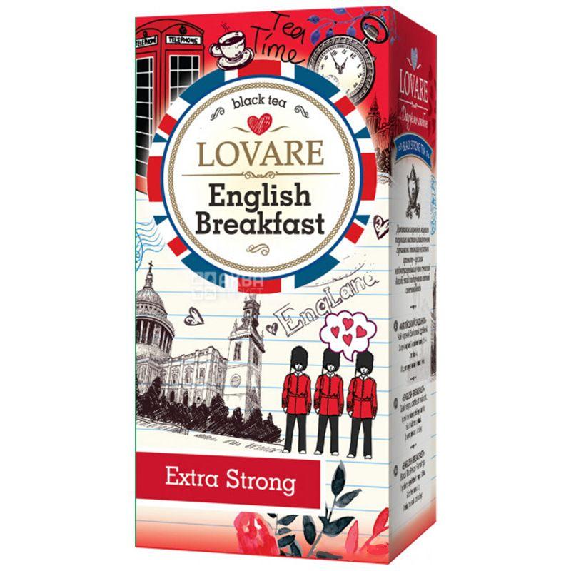 Lovare, English Breakfast, 24 пак. х 2 г, Чай Ловара, Англійський сніданок, Чорний