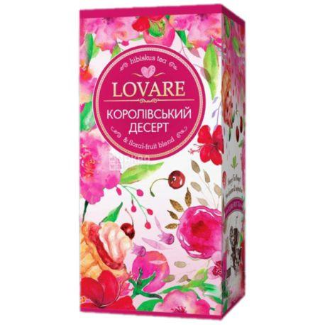 Lovare, Royal dessert, 24 пак. х 1,5 г, Чай Ловаре, Королевский десерт, Смесь цветочного и фруктового чая