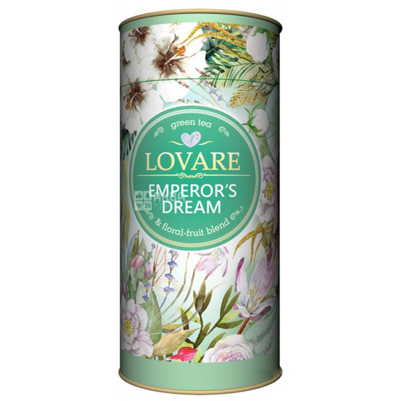 Lovare, Emperor's Dreams, 80 г, Чай Ловара, Мрії Імператора, Зелений, тубус