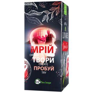 Lovare Dream Tea, Суміш чорного і зеленого чаю, Органічний, 24 пакета х 1,5 г