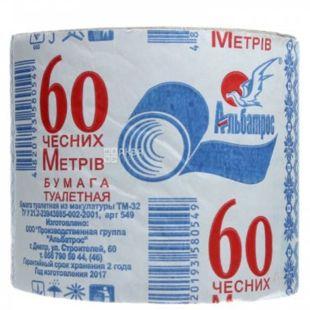 Альбатрос, 60 м, Туалетная бумага Джамбо, 1-слойная