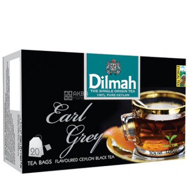Dilmah, Earl Grey, 20 пак., Чай Ділма, Ерл Грей, чорний з бергамотом