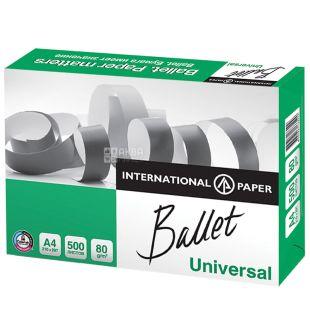 Ballet Universal, Папір офісний білий А4, 80 г/м2, 500 л.*5 шт., м/у