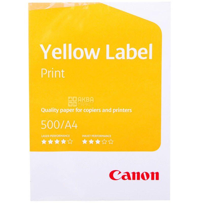 Canon Yellow Label Print, Папір офісний білий А4, 80 г/м2, 500 л.*5 шт., м/у