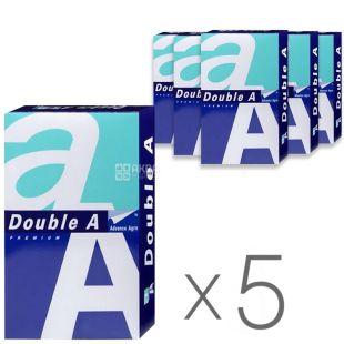 Double A, Папір офісний білий А4, 80 г/м2, 500 л.*5 шт., м/у