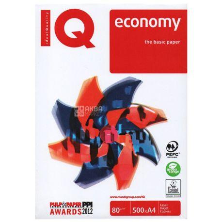 IQ Economy, Бумага офисная белая А4, 80 г/м2, 500 л.*5 шт., м/у