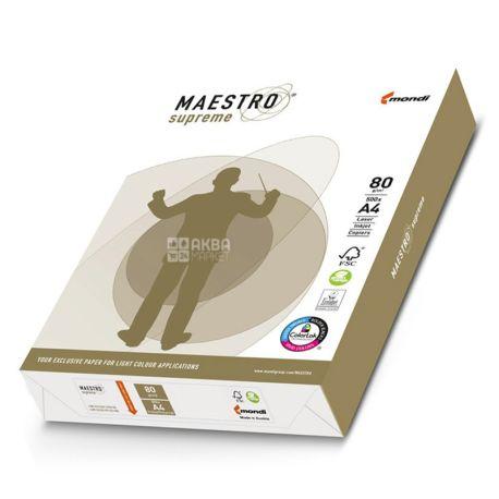 Maestro Supreme, Папір офісний білий А4, 80 г/м2, 500 л.*5 шт., м/у