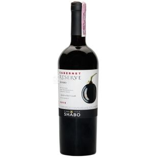 Shabo Reserve Cabernet wine is dry, 0.75l