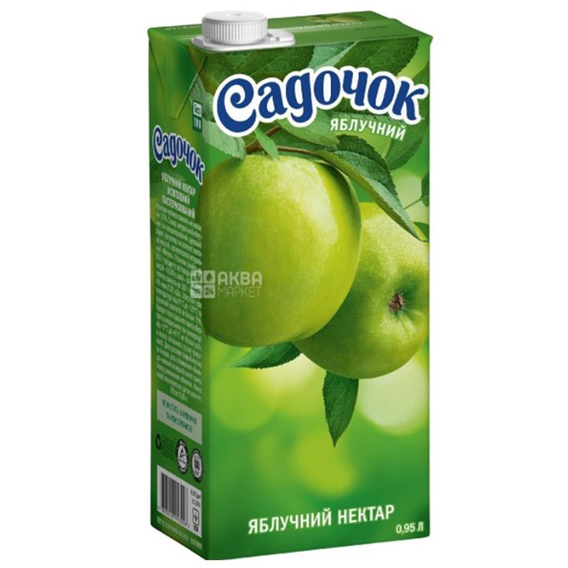 Нектар Садочок яблочный 0,95 л тетрапак