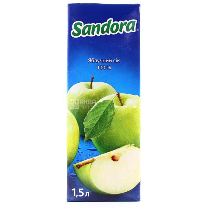 Sandora, Яблочный, 1,5 л, Сандора, Сок натуральный