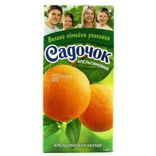Садочок, Апельсиновый, 1,93 л, Нектар натуральный, с мякотью