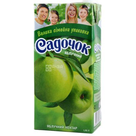 Садочок, Яблочный, 1,93 л, Нектар натуральный