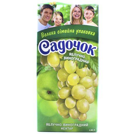 Садочок, Яблочно-виноградный, 1,93 л, Нектар натуральный