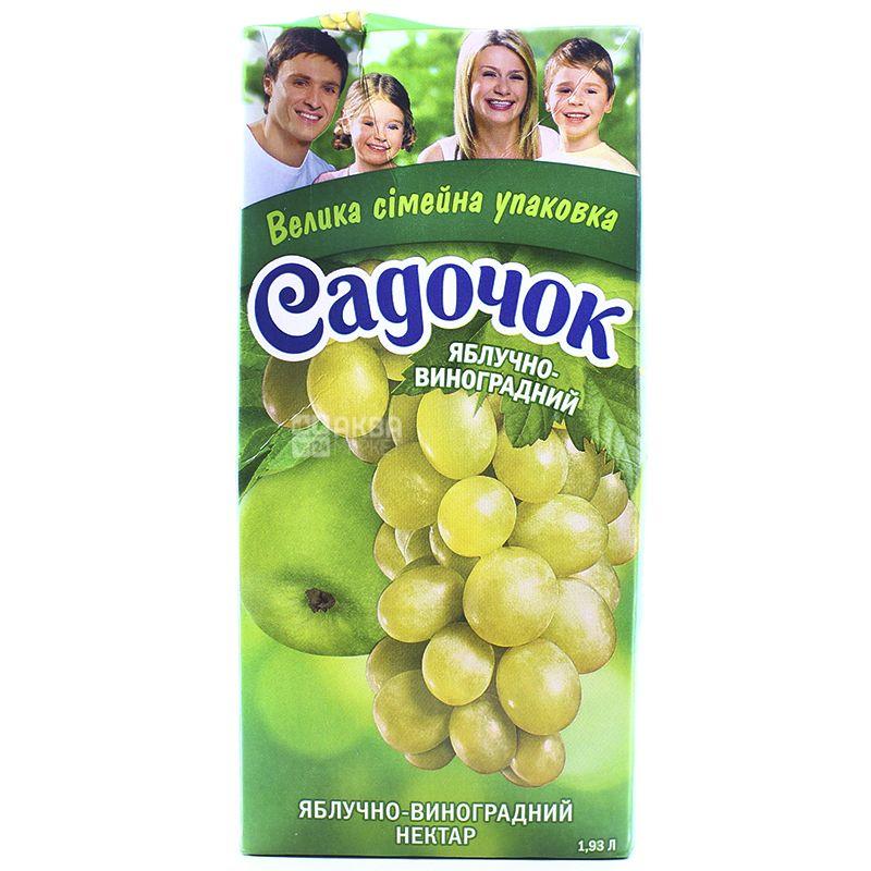 Нектар Садочок Яблочно-виноградный 1,93 л Тетрапак