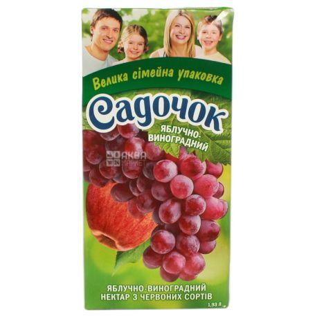 Нектар Садочок Яблочно-виноградный из красных сортов 1,93 л Тетрапак