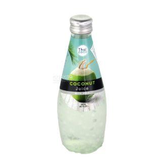 Thai Coco, Coconut juice with pulp, 0,3 л, Тай коко, Кокосовый сок с мякотью, стекло