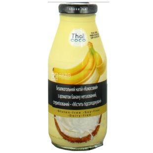 Thai Coco, Кокосовый, 0,28 л, Тай коко, Напиток с ароматом банана, негазированный, безглютеновый, стекло
