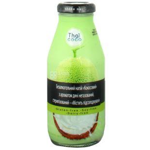 Thai Coco, Кокосовый, 0,28 л, Тай коко, Напиток с ароматом дыни, негазированный, безглютеновый, стекло