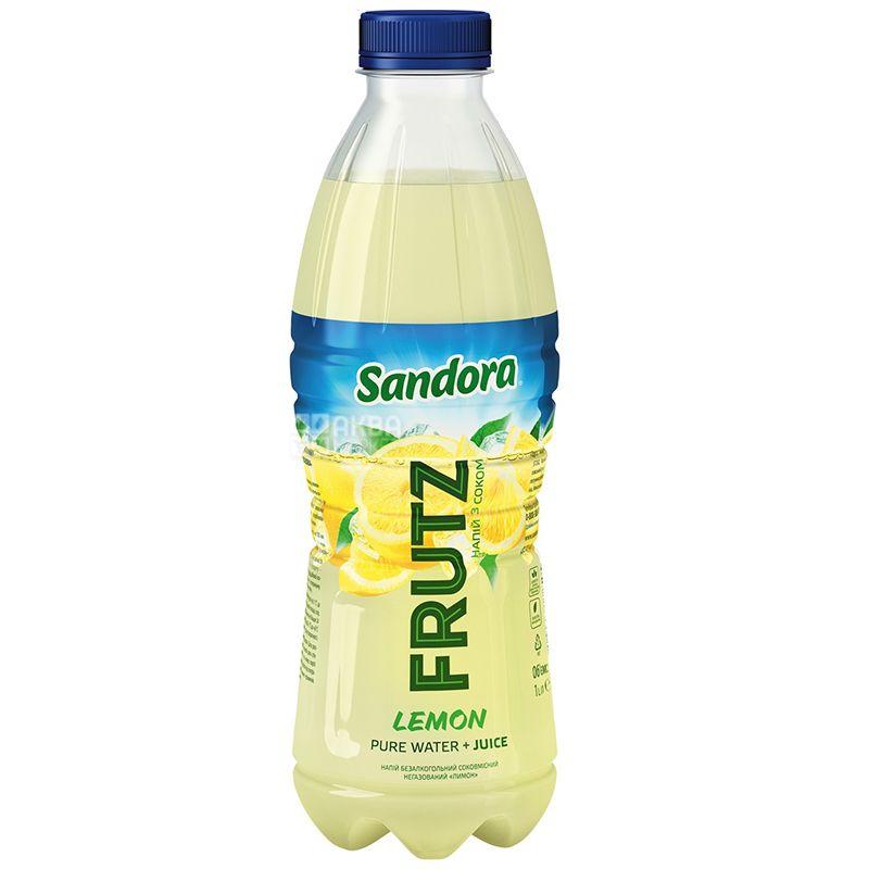 Sandora, Frutz, 1 л, Сандора, Напиток соковый с лимоном, негазированный, ПЭТ