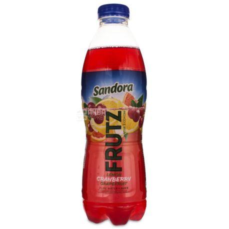 Sandora, Frutz, 1 л, Сандора, Напиток соковый, Лимон-клюква-грейпфрукт, негазированный, ПЭТ