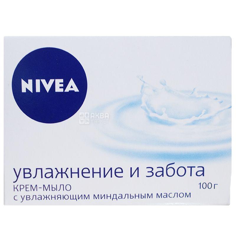 Nivea, 100 г, крем-мыло, Нежное увлажнение, м/у