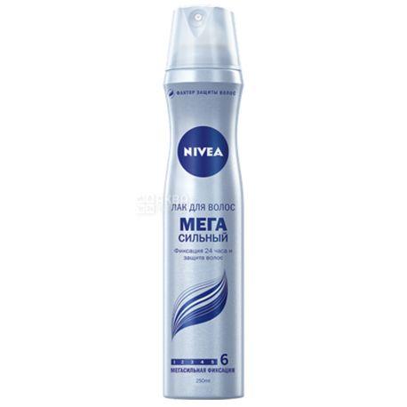 Nivea, 250 мл, лак для волосся, Мегасильний