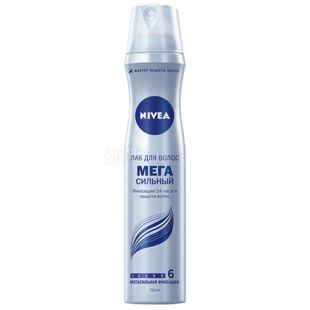 Nivea, 250 мл, лак для волос, Мегасильный