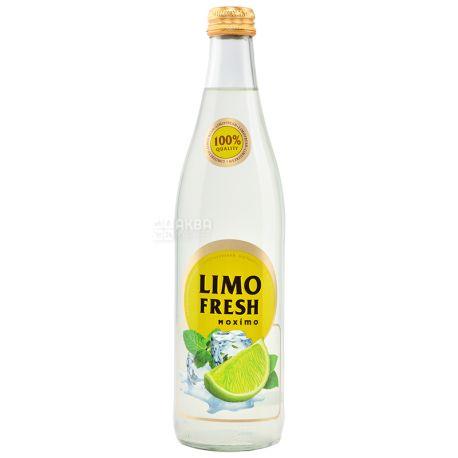 Limofresh, Мохіто, 0,5 л, Лимофреш, Мохито, Лимонад фруктовый, стекло