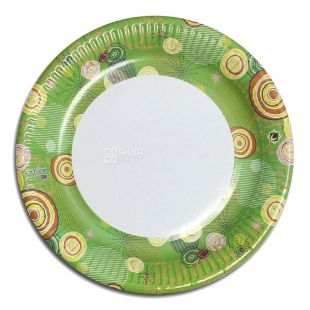 EcoPack, Laminated paper plate Ø18 cm, assorted, 50 pcs.