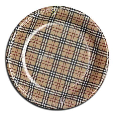 ЕкоПак, Тарелка ламинированная с рисунком, ассорти, 230 мм, 50 шт