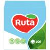Ruta Серветки столові блакитні одношарові, 24x24см, упаковка поліпропіленова 100шт