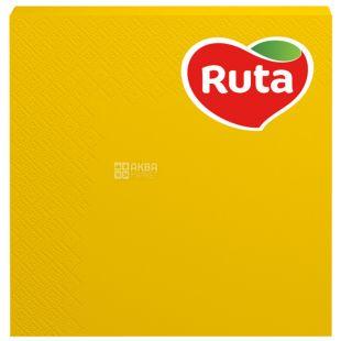 Ruta, 20 шт., Салфетки столовые Рута,3-х слойные, 33x33см, желтые