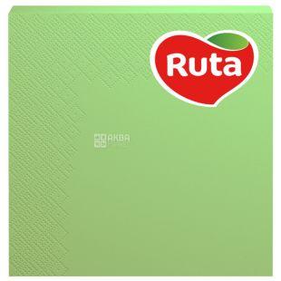 Ruta, 20 шт., Салфетки столовые Рута, 3-х слойные, 33x33 см, зеленые