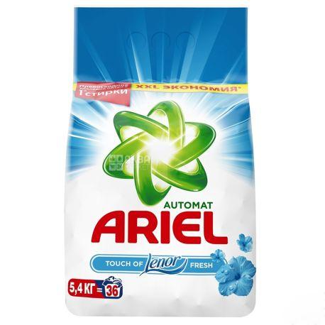 Ariel Touch of Lenor Fresh, Стиральный порошок, Автомат, Ленор эффект, 5,4 кг