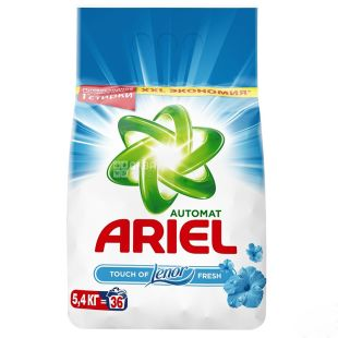 Ariel Touch of Lenor Fresh, Washing powder, Automatic, Lenore effect, 5.4 kg
