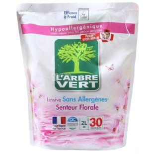 L'Аrbre Vert, Засіб для прання гіпоалергенний з квітковим ароматом, 2 л, дой-пак